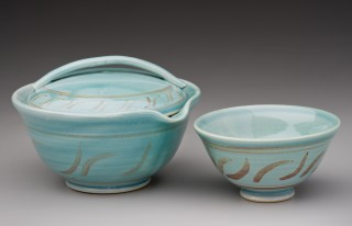 Robin Egg Blue Tea Set, Japanese style