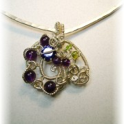 Amethyst Swirling with Sterling