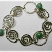 Sterling Swirls with Aventurine Bracelet