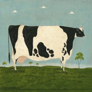 """Vermont Cow,"" a classic Warren Kimble painting."