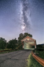 Milky Way Over Depot Hill Bridge